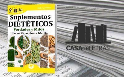 El «GuíaBurros: Suplementos dietéticos» en la web de Casa de Letras